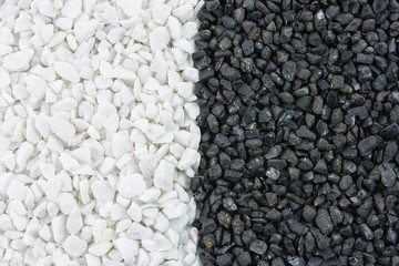 Black and white stones texture