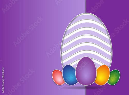 Easter card violet background