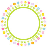 Abstract Flowers Meadow Frame