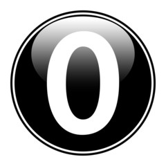 Black number zero button