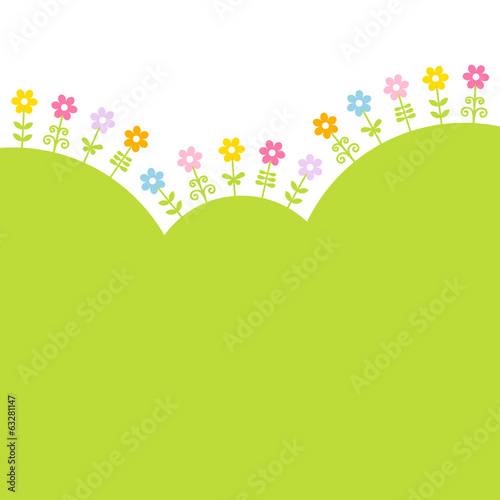 Flowers Meadow Landscape Green