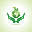 save earth or go green concept vector