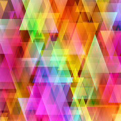 Abstract bright triangle background