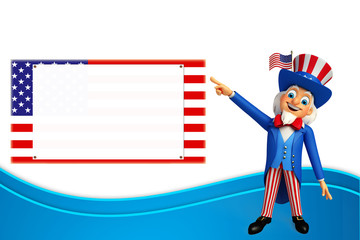 Illustration of Uncle Sam pointing to sign