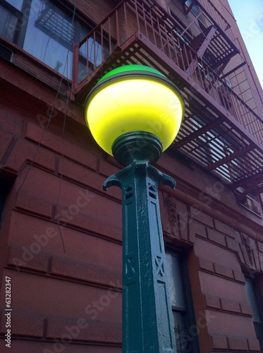 Farola del metro de Manhattan en New York
