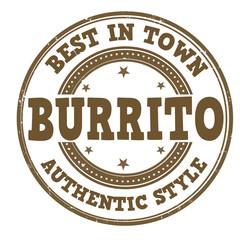 Burrito stamp