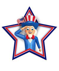 Illustration of Uncle Sam doing salute