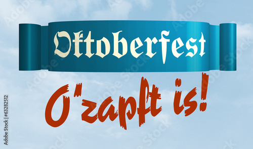 canvas print picture Oktoberfest O'zapft is!