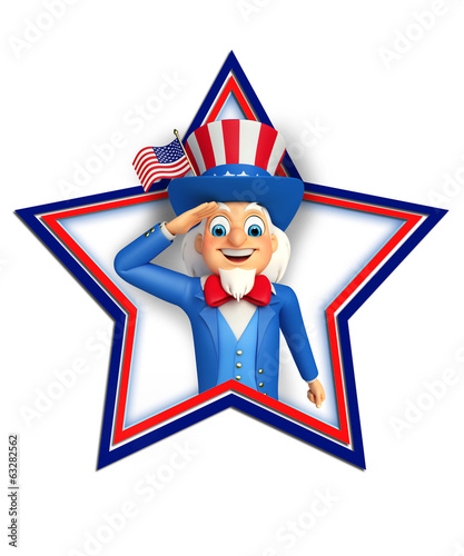 Illustration of Uncle Sam doing salute