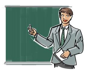 Blackboard lecture