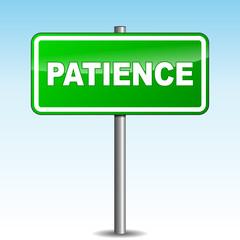 Vector patience signpost