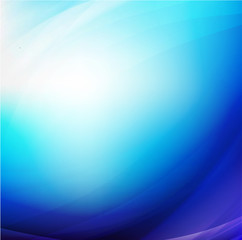 Abstract blue smooth flow background for modern design, vector i
