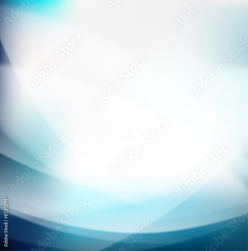 Abstract blue smooth flow background and space for your text, ve