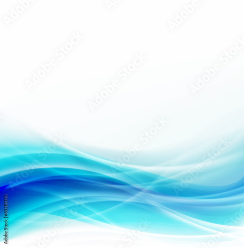 Abstract waving blue background and space for your text, vector