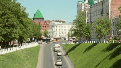 Nizhny Novgorod, Russia, Road near Kremlin
