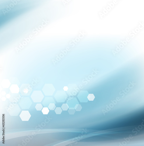 Abstract flow smooth and clean background for science or technol