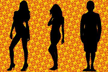 Silhuetas mulheres