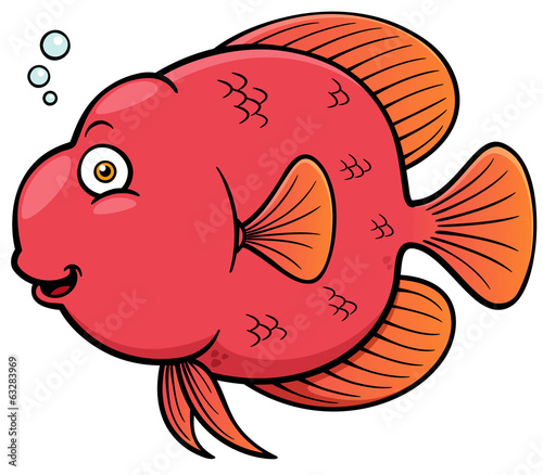 Vector illustration of Cartoon fish