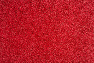 close up view on red leather texture studio shot