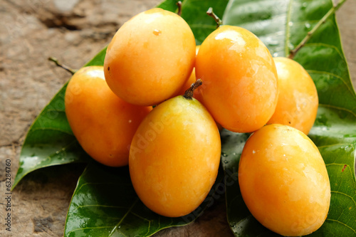 Marian plum tropical fruit from Thailand