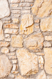 Vertical stone background wall of stonework poster