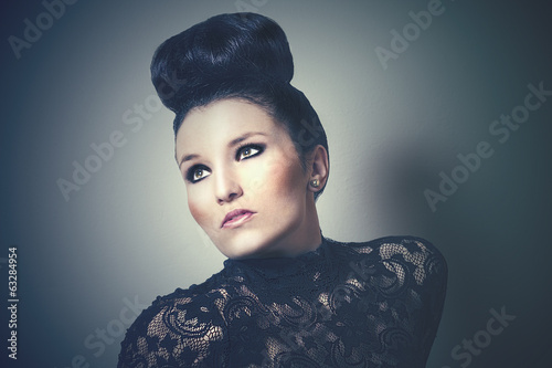 Retro portrait of a beautiful sophisticated woman