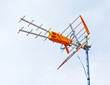 Antenne TNT de couleur orange