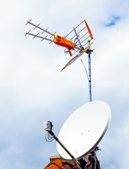 Parabole et antenne TNT