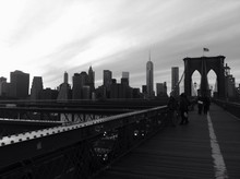 Vue de Manhattan depuis Brooklyn Bridge, New York