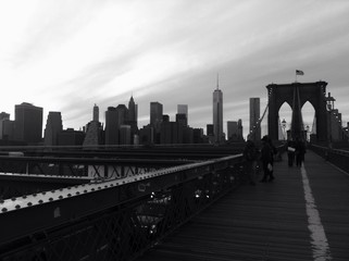 Vista de Manhattan desde el Puente de Brooklyn, New York