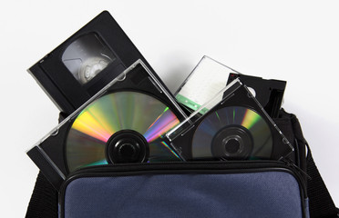 media storage video cassette tapes collection cd convert copy