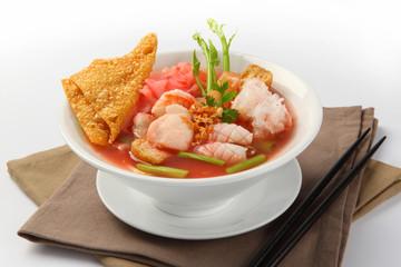delicious Yen Ta Four noodle, Thailand