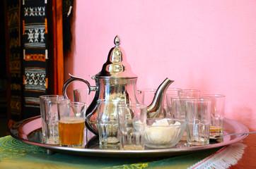 Traditional moroccan green tea