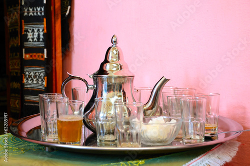 Traditional moroccan green tea
