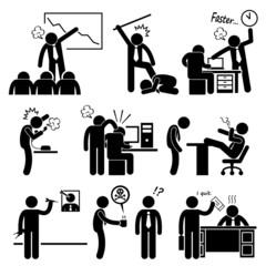 Angry Boss Abusing Employee