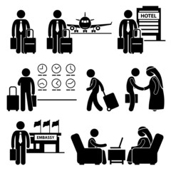 Business Trip Businessman Travel Meeting