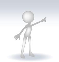 3d man pointing