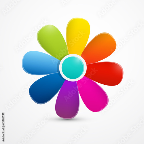 Abstract Colorful Vector Flower Illustration