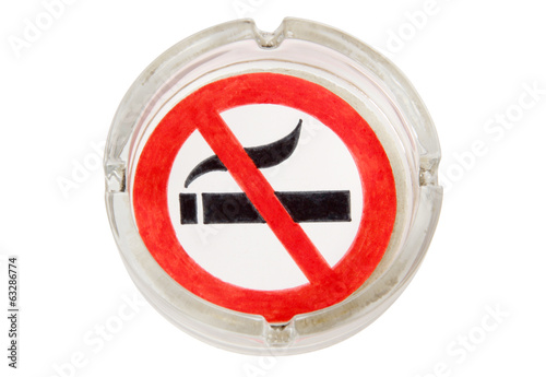 Sign of glass ashtray