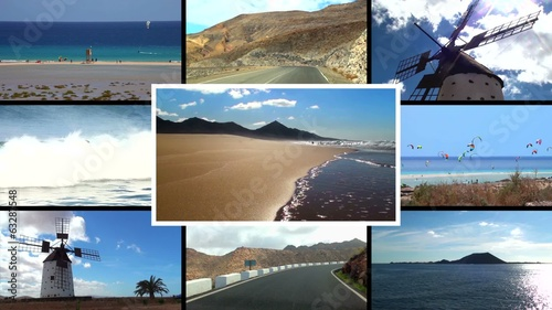 Fuerteventura composition (picture in picture)