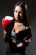 Beautiful boxing girl, fitness