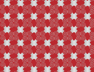 Wallpaper grid pearl arabesque spiral