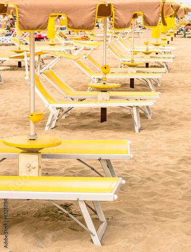 Rimini Beach - Italian Summer at the beginning of the vacation S
