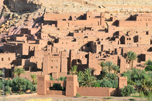 Traditional fortified city in Morocco, Africa.