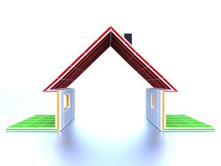 Silhouette eines Hauses