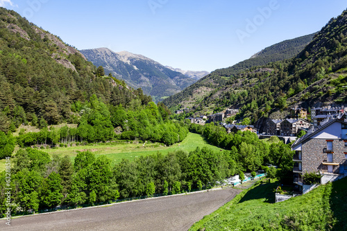 Forests, hills and valleys at the Pyrenees