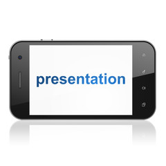 Marketing concept: Presentation on smartphone