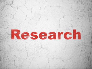 Marketing concept: Research on wall background