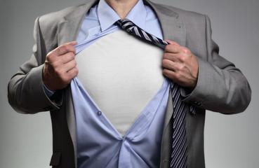 Superhero businessman