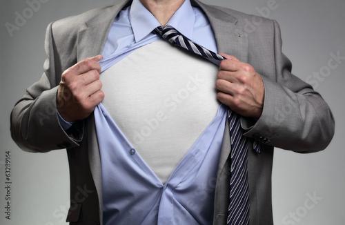 Superhero businessman - 63289164